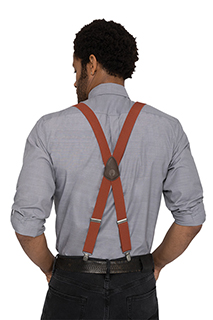 Pant Suspenders: Solid Color - side view