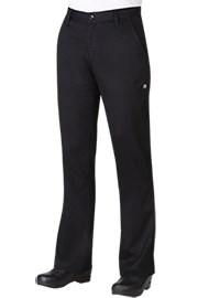 Chef Pants and Chefs Trousers PW007BLK