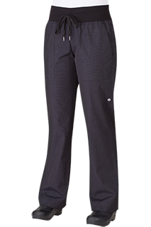 Womens Comfi Pants: Fine Stripe - side view