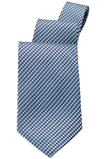 Blue Check Tie - side view