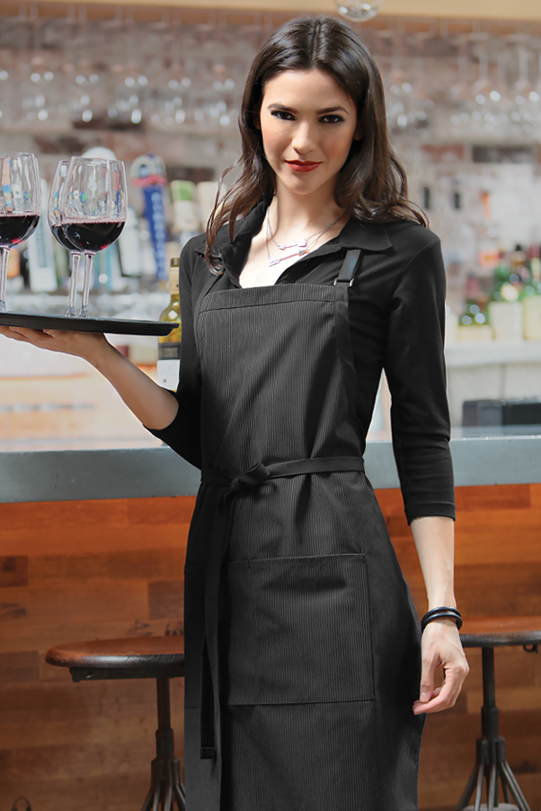 Butcher Apron With Contrasting Ties Chefworks Com