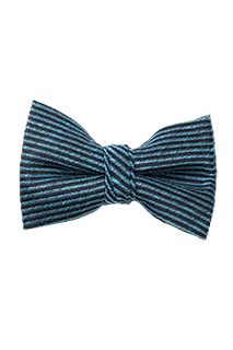 Bow Tie: Blue stripe - side view