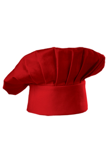 Red Chef Hat - side view