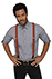 Pant Suspenders: Solid Color - back view