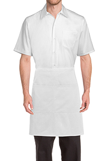 Wide Half Bistro Apron - side view