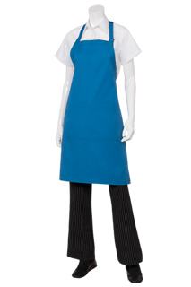 Butcher Aprons: Blue - side view