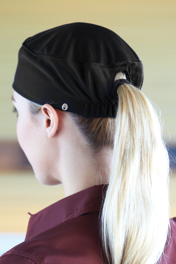 Womens Chef Headwear Collection - Ponytail Opening  488bf8c8495