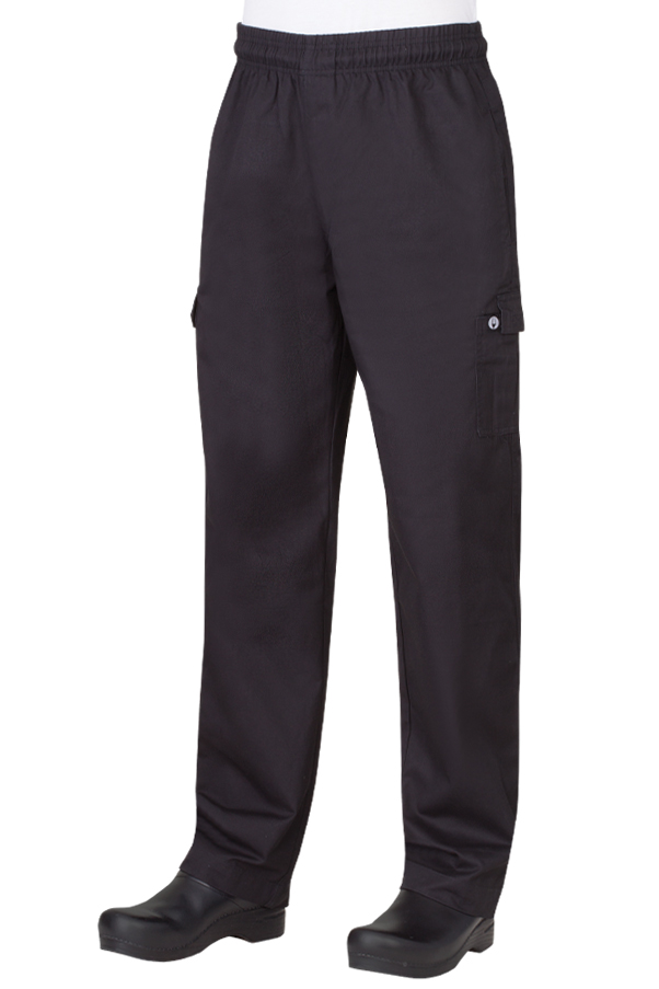 100 Cotton Black Cargo Pants Chefworks Com