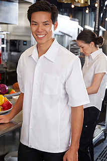 Cool Vent™ Cook Shirt: White - side view