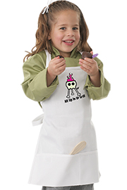 Kids With Bib Apron with Grill Screen Print