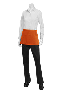 Waist Apron: Orange - side view