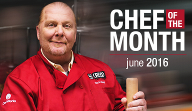 Mario Batali Chef Works Chef of the Month